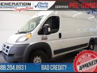 Bright White Clearcoat and 2015 Ram ProMaster 2500.
