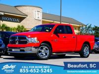 2015 Ram 1500 in Red. Stability and traction control