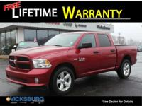 Options:  2015 Ram 1500 Express|Red|New Price! Priced