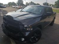 LOCAL TRADE! And CLEAN CARFAX ONE OWNER!. Black Ram