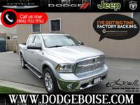 Laramie 4WD Crew Cab FACTORY CERTIFIED ONLY 6K!Green