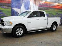 *Rule the roads in this bright white 2015 Ram 1500 SLT