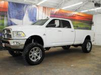 *Rule the roads in this LIFTED bright white 2015 Ram