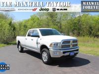 2015 RAM 3500 LARAMIE IN BRIGHT WHITE CLEARCOAT!!