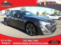 CARFAX 1-Owner, Scion Certified. FR-S trim, ASPHALT