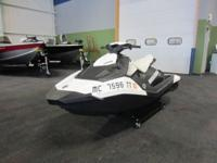 CLEAN 2015 SEA-DOO SPARK 2UP H.O. CONV iBR WITH ONLY 16