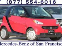 Clean CARFAX. Red 2015 smart Fortwo RWD 5 Speed
