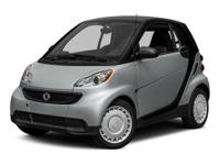Clean CARFAX. Silver 2015 smart Fortwo Pure RWD 5 Speed