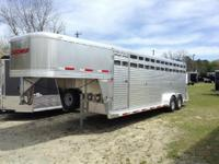 Come check out this sleek looking stock trailer Many