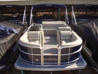 2015 South Bay 422 CR Tritoon PP Navy Ray Clepper