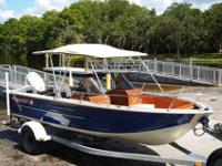 This is a new boat with a recycled Aluminum Hull with