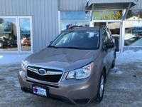 Climb inside the 2015 Subaru Forester! Worthy equipment