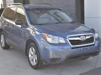 Subaru Certified, One-Owner, 2015 Forester 2.5i with
