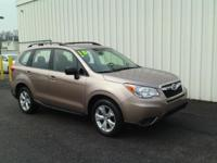 ONE OWNER!! 2015 SUBARU FORESTER!! AWD, 2.5L, ALLOY