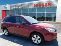 2015 Subaru Forester 2.5i Limited AWD CVT, LEATHER,