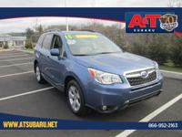 CARFAX One-Owner. Quartz Blue Pearl 2015 Subaru