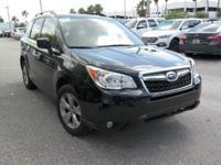 Options:  2015 Subaru Forester 2.5I Limited|Black|3.70