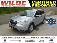 Options:  2015 Subaru Forester 2.5I Limited|Ice Silver