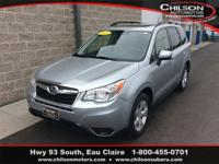 Certified. 2015 Subaru Forester 2.5i Premium Ice Silver