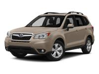Don't miss out on this 2015 Subaru Forester 2.5i