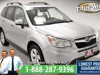 Recent Arrival! New Price!2015 Subaru Forester, Silver,