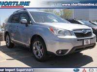 Clean CARFAX. Silver 2015 Subaru Forester 2.5i Touring