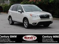 1 Owner, This 2015 Subaru Forester 2.5i Touring is