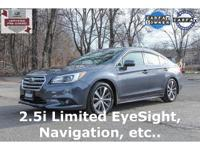 Certified. 2015 Subaru Legacy 2.5i Limited Carbide Gray