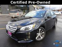 Options:  2015 Subaru Legacy 3.6R|Black|Carfax
