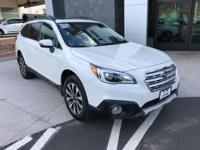 Options:  2015 Subaru Outback 2.5I|White|Limited With