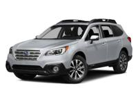 Used 2015 Subaru Outback, key features include:  Fog