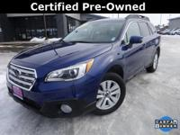 Options:  2015 Subaru Outback 2.5I|Blue|Carfax