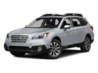 Outback AWD Wagon w/Moonroof and Leather. When you