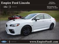 Options:  2015 Subaru Wrx Limited|Awd Limited 4Dr Sedan