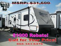 2015 Surveyor SC-291BHSS DOUBLE BUNK FLOORPLAN w/DUAL