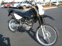 This single cylinder 199 cc dual-sport cycle features a