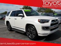 Options:  2015 Toyota 4Runner Limited|White/|V6 4.0 L