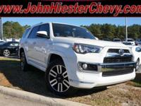 Options:  2015 Toyota 4Runner Limited|White|Carfax
