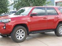 4WD. CARFAX One-Owner. Clean CARFAX. Red 2015 Toyota