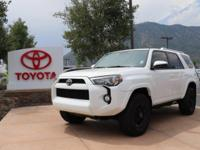 4WD. CARFAX One-Owner. White 2015 Toyota 4Runner SR5 4D