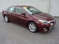 Certified. 2015 Toyota Avalon XLE CARFAX One-Owner.
