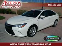 Toyota Certified. Clean CARFAX. 40/38 City/Highway MPG.