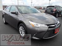 2015 Toyota Camry LE Predawn Gray Mica Odometer is 7201