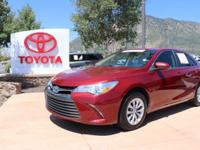 CARFAX One-Owner. Red 2015 Toyota Camry LE 4D Sedan FWD
