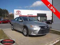 2015 Toyota Camry Certified. CARFAX One-Owner. Odometer