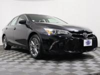 CARFAX One-Owner. Black 2015 Toyota Camry SE FWD
