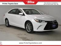 Toyota Certified!, 2015 Toyota Camry SE in Super White,