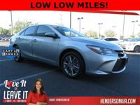 Options:  2015 Toyota Camry Se|Silver|Carfax One-Owner.