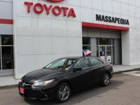 Certified. Black 2015 Toyota Camry SE FWD 6-Speed
