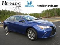 New Price! 2015 Toyota Camry XLE Blue Leather. CARFAX